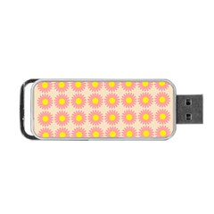 Pattern Flower Background Wallpaper Portable Usb Flash (two Sides)