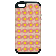 Pattern Flower Background Wallpaper Apple Iphone 5 Hardshell Case (pc+silicone)