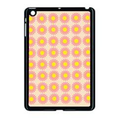 Pattern Flower Background Wallpaper Apple Ipad Mini Case (black)
