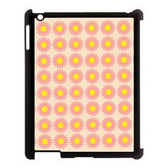 Pattern Flower Background Wallpaper Apple Ipad 3/4 Case (black)