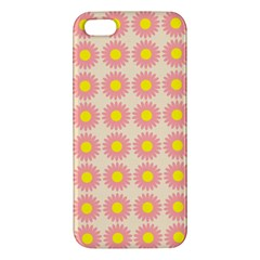 Pattern Flower Background Wallpaper Iphone 5s/ Se Premium Hardshell Case