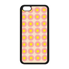 Pattern Flower Background Wallpaper Apple Iphone 5c Seamless Case (black)