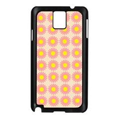 Pattern Flower Background Wallpaper Samsung Galaxy Note 3 N9005 Case (black)