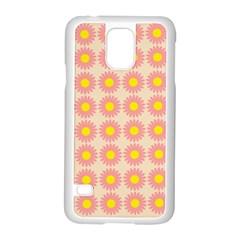 Pattern Flower Background Wallpaper Samsung Galaxy S5 Case (white)