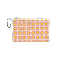 Pattern Flower Background Wallpaper Canvas Cosmetic Bag (s)