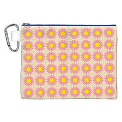 Pattern Flower Background Wallpaper Canvas Cosmetic Bag (xxl)