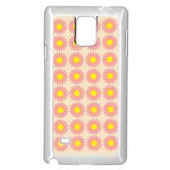 Pattern Flower Background Wallpaper Samsung Galaxy Note 4 Case (white)