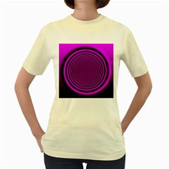 Background Coloring Circle Colors Women s Yellow T-Shirt