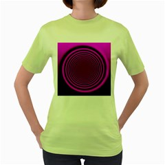Background Coloring Circle Colors Women s Green T Shirt