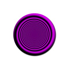 Background Coloring Circle Colors Rubber Round Coaster (4 Pack)