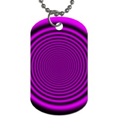 Background Coloring Circle Colors Dog Tag (One Side)