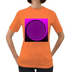 Background Coloring Circle Colors Women s Dark T-Shirt