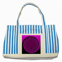 Background Coloring Circle Colors Striped Blue Tote Bag