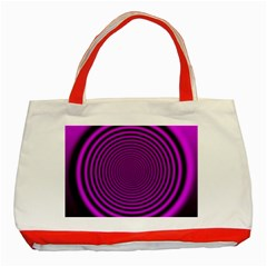 Background Coloring Circle Colors Classic Tote Bag (red)