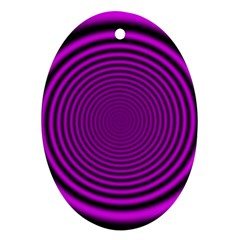 Background Coloring Circle Colors Oval Ornament (Two Sides)