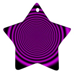 Background Coloring Circle Colors Star Ornament (Two Sides)