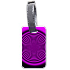 Background Coloring Circle Colors Luggage Tags (One Side)