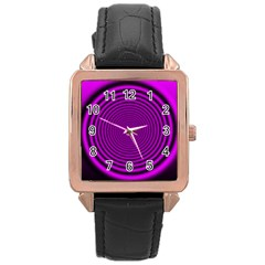 Background Coloring Circle Colors Rose Gold Leather Watch