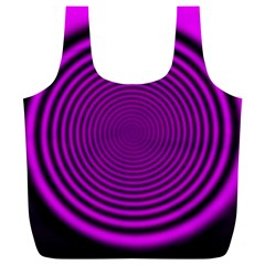 Background Coloring Circle Colors Full Print Recycle Bags (L)