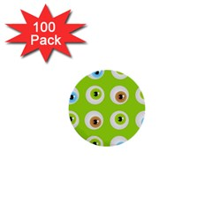 Eyes Background Structure Endless 1  Mini Buttons (100 Pack)