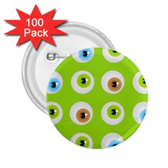 Eyes Background Structure Endless 2.25  Buttons (100 pack)
