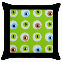 Eyes Background Structure Endless Throw Pillow Case (Black)