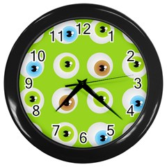 Eyes Background Structure Endless Wall Clocks (black)