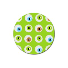 Eyes Background Structure Endless Magnet 3  (Round)