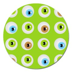 Eyes Background Structure Endless Magnet 5  (Round)