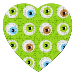 Eyes Background Structure Endless Jigsaw Puzzle (Heart)