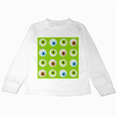 Eyes Background Structure Endless Kids Long Sleeve T Shirts