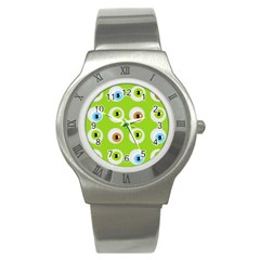 Eyes Background Structure Endless Stainless Steel Watch