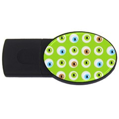 Eyes Background Structure Endless USB Flash Drive Oval (4 GB)