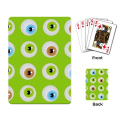 Eyes Background Structure Endless Playing Card