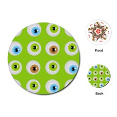 Eyes Background Structure Endless Playing Cards (Round)