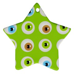 Eyes Background Structure Endless Star Ornament (two Sides)
