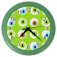 Eyes Background Structure Endless Color Wall Clocks