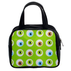 Eyes Background Structure Endless Classic Handbags (2 Sides)