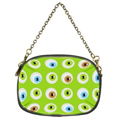 Eyes Background Structure Endless Chain Purses (one Side)