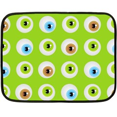 Eyes Background Structure Endless Double Sided Fleece Blanket (mini)