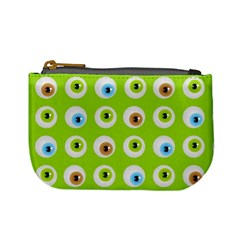Eyes Background Structure Endless Mini Coin Purses