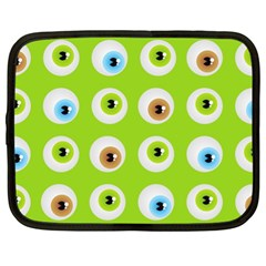 Eyes Background Structure Endless Netbook Case (xl)