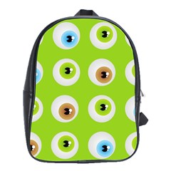 Eyes Background Structure Endless School Bags(large)