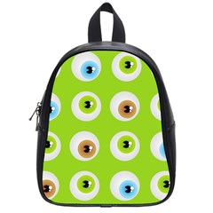 Eyes Background Structure Endless School Bags (Small)