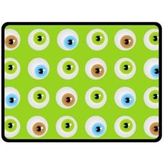 Eyes Background Structure Endless Fleece Blanket (Large)