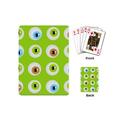 Eyes Background Structure Endless Playing Cards (Mini)