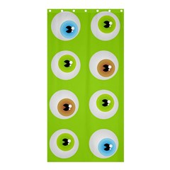 Eyes Background Structure Endless Shower Curtain 36  x 72  (Stall)