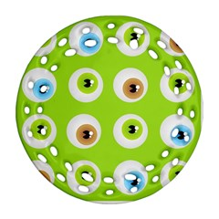 Eyes Background Structure Endless Ornament (Round Filigree)
