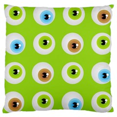 Eyes Background Structure Endless Large Cushion Case (two Sides)