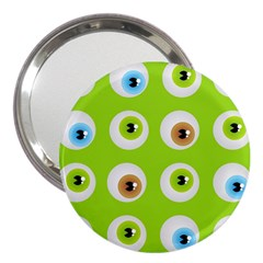 Eyes Background Structure Endless 3  Handbag Mirrors